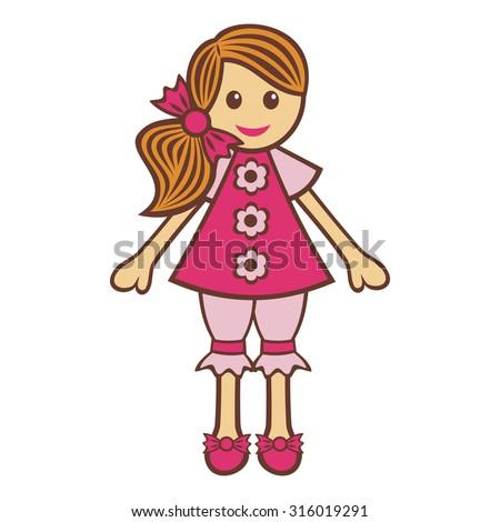 doll vector illustration
