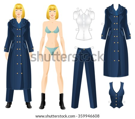 doll with clothes body