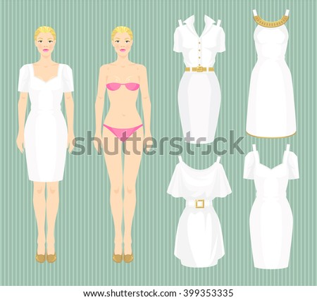 paper doll template woman - royalty free dress up paper doll bride wedding