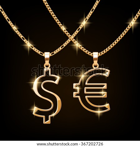 dollar and euro sign jewelry