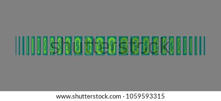 Dollar bill money icon. Paper banknote animation around its axis.