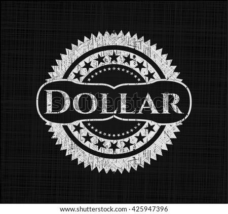 Dollar chalk emblem