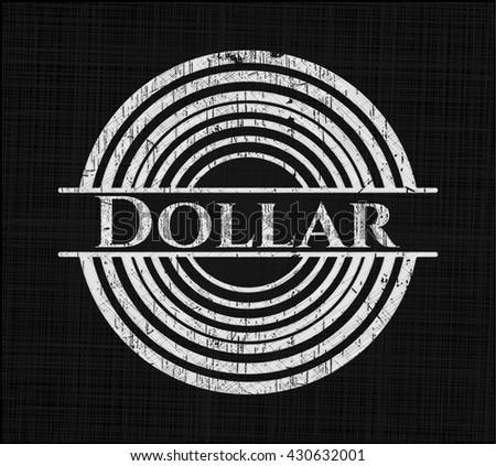 Dollar chalkboard emblem written on a blackboard