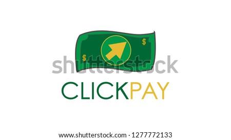 Dollar click cursor payment digital icon logo