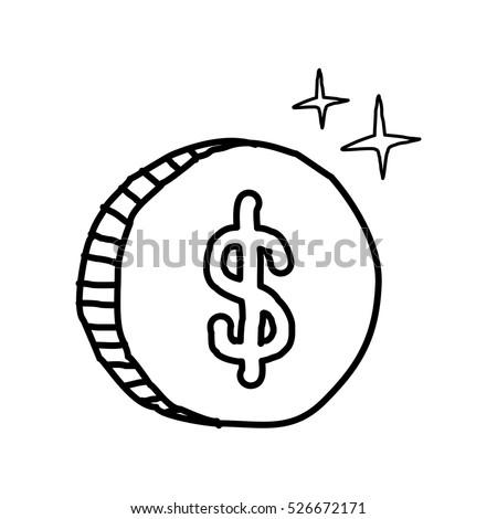 dollar coin doodle