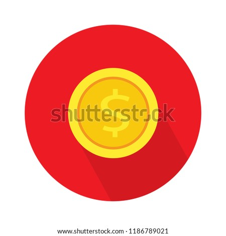 dollar coin flat icon. vector money - investment symbol