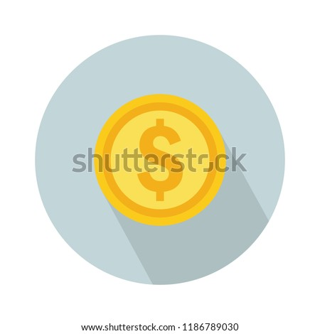 dollar coin icon. vector money - investment symbol