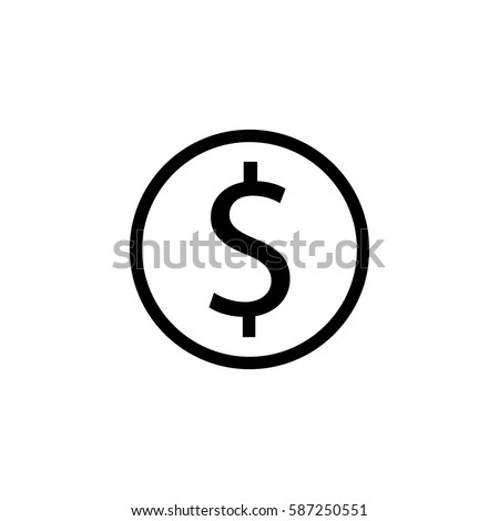 Dollar coin solid icon, finance and business, dollar sign vector graphics, a filled pattern on a white background, eps 10.