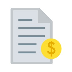 dollar document icon - Vector illustration finances. money dollar icon