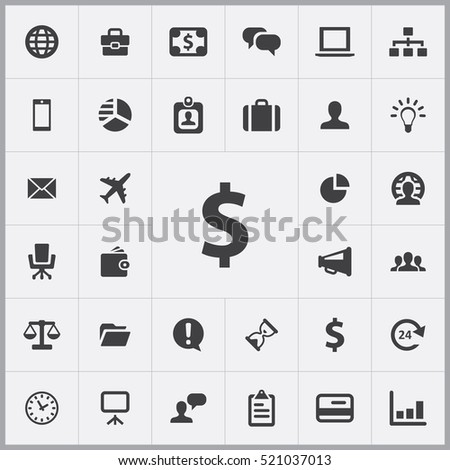 dollar icon. Business icons universal set for web and mobile
