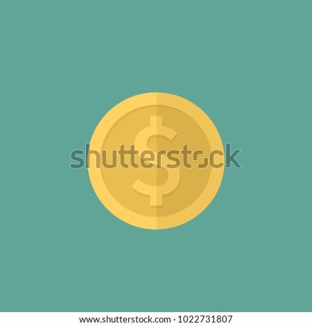 dollar icon flat design