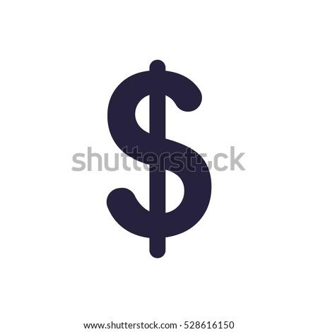 dollar Icon, flat design style