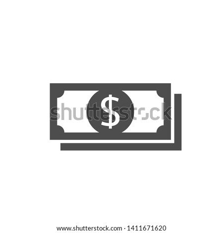 Dollar icon. Money sign isolated, Vector illustration