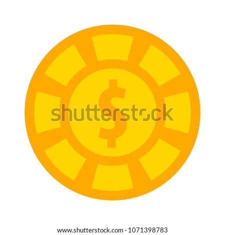 dollar icon   vector casino
