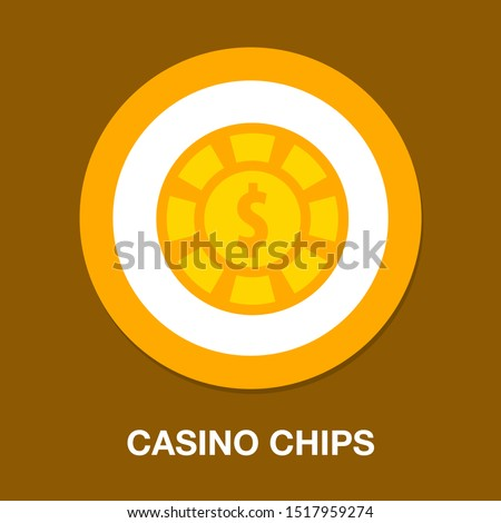 dollar icon - Vector casino chips, casino chips isolated