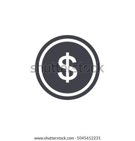 dollar icon vector EPS10