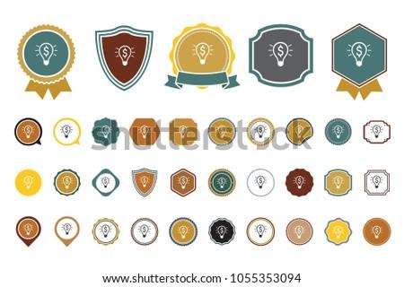dollar light bulb icon