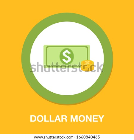 dollar money cash icon  cash