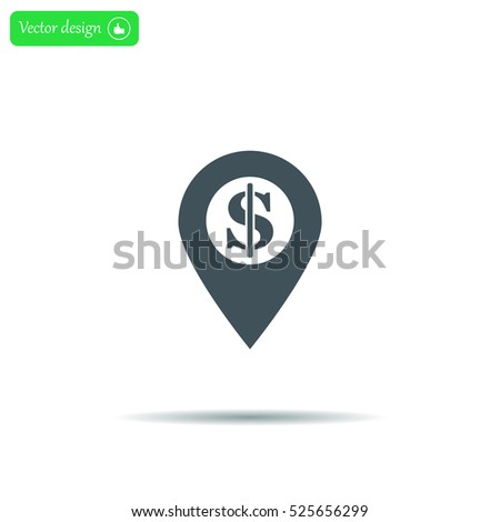 dollar pin icon