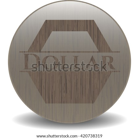 Dollar retro wood emblem
