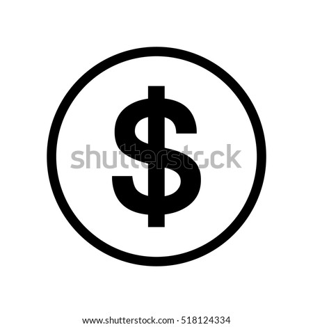 Dollar sign icon in a black circle.