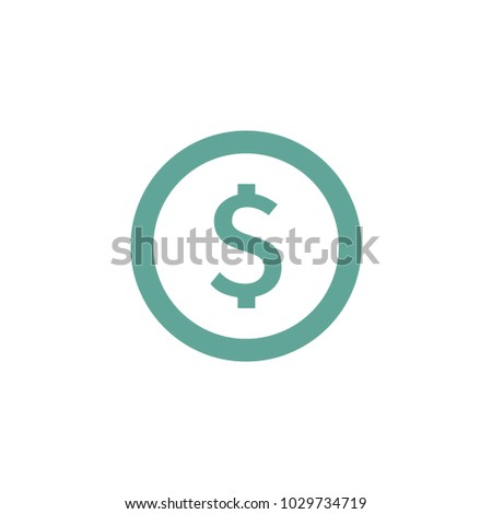 dollar sign icon vector Eps10