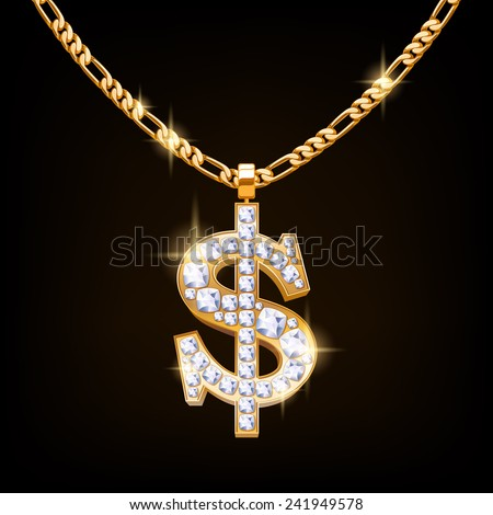 dollar sign jewelry necklace on