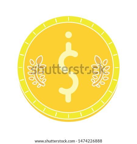 dollar symbol icon. flat illustration of dollar symbol vector icon. dollar symbol sign symbol #1474226888