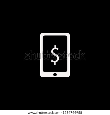 dollar symbol phone vector icon. flat dollar symbol phone design. dollar symbol phone illustration for graphic