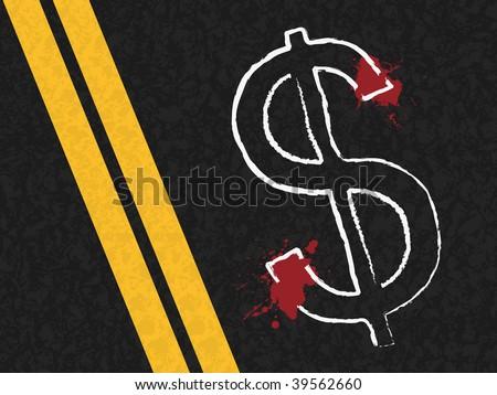 dollar symbol representing