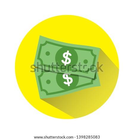 Dollar vector sign, money dollar icon - dollar bill symbol