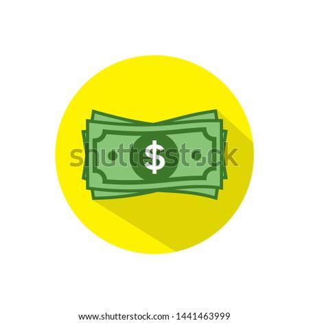 Dollar vector sign, paper money dollar icon - dollar bill symbol