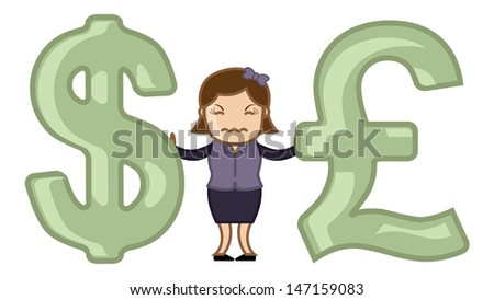 dollar vs pound   vector