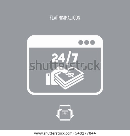 Dollars payment online - Vector flat icon