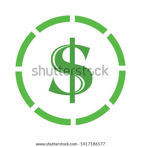 Dollars sign icon. USD currency symbol. Money icon.