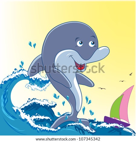 Dolphin and sea