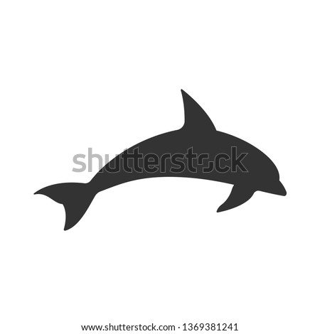 Dolphin Aquatic Mammal Vector Icon for Animal Apps and Websites.