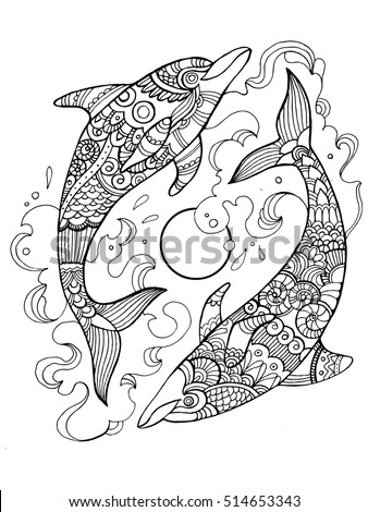 dolphin coloring book for