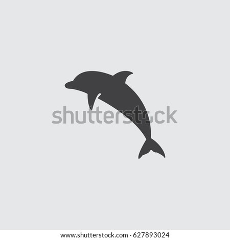 dolphin icon in a flat design