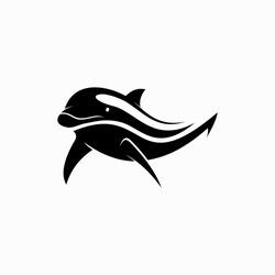 dolphin icon to logo animal