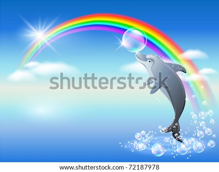 dolphin leaps from water on the