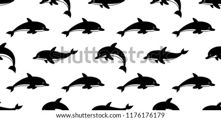 dolphin seamless pattern vector