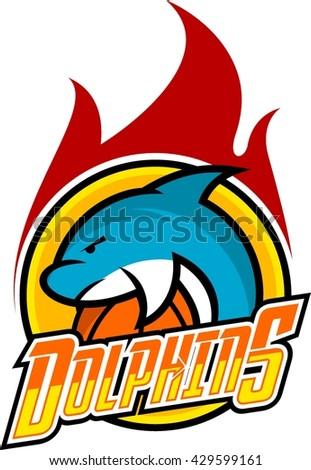 dolphin sport logo template
