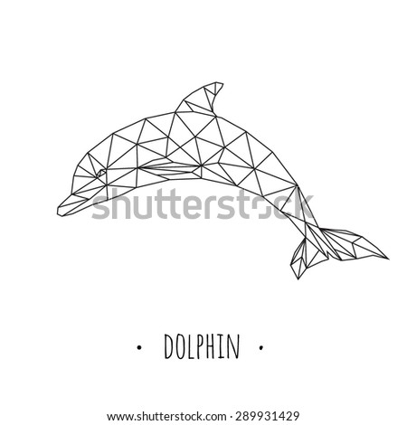 dolphin stylized triangle
