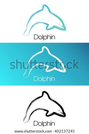 dolphin vector logo dolphin
