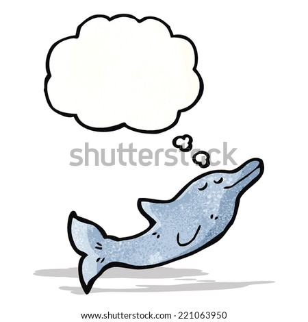 dolphin with thought bubble