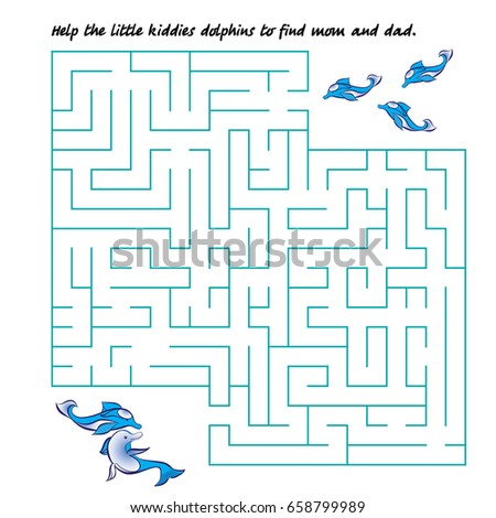 dolphins maze dolphins kids