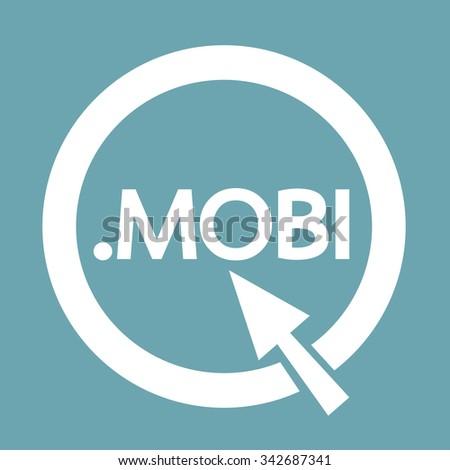 domain dot mobi sign icon