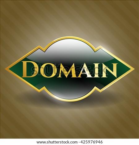 Domain golden emblem or badge