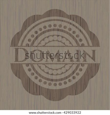 Domain vintage wood emblem
